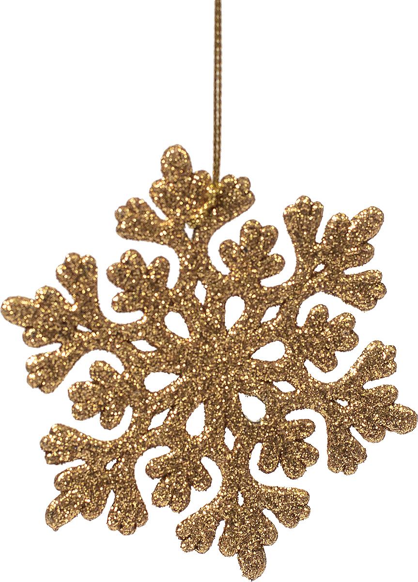Новогоднее подвесное украшение Magic Time Снежинка ажурная, цвет: золотой75099Новогоднее украшение Magic Time, выполненное из полипропилена, отлично подойдет для декорации вашего дома и новогодней ели. С помощью специальной петельки украшение можно повесить в любом понравившемся вам месте. Но, конечно, удачнее всего оно будет смотреться на праздничной елке.Елочная игрушка - символ Нового года. Она несет в себе волшебство и красоту праздника. Такое украшение создаст в вашем доме атмосферу праздника, веселья и радости.