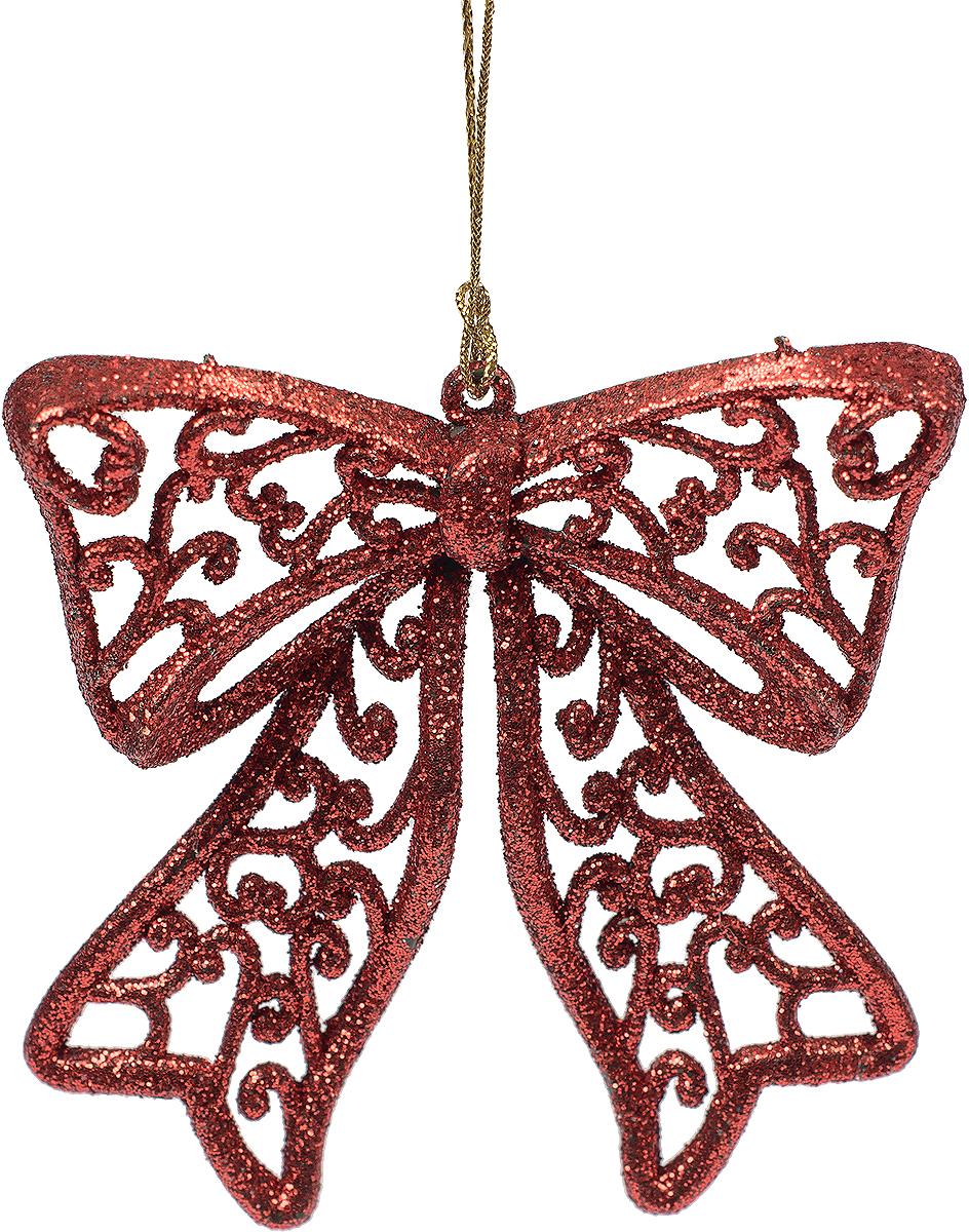 Новогоднее подвесное украшение Magic Time Бантик, цвет: красный75115Новогоднее украшение Magic Time, выполненное из полипропилена, отлично подойдет для декорации вашего дома и новогодней ели. С помощью специальной петельки украшение можно повесить в любом понравившемся вам месте. Но, конечно, удачнее всего оно будет смотреться на праздничной елке.Елочная игрушка - символ Нового года. Она несет в себе волшебство и красоту праздника. Такое украшение создаст в вашем доме атмосферу праздника, веселья и радости.