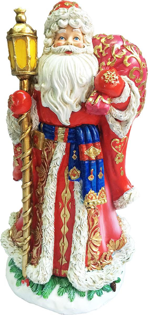 Фигурка новогодняя Magic Time Дед мороз с подарками. 7552975529Фигурка новогодняя ДЕД МОРОЗ С ПОДАРКАМИ из полирезины, 25 см, артикул 75529