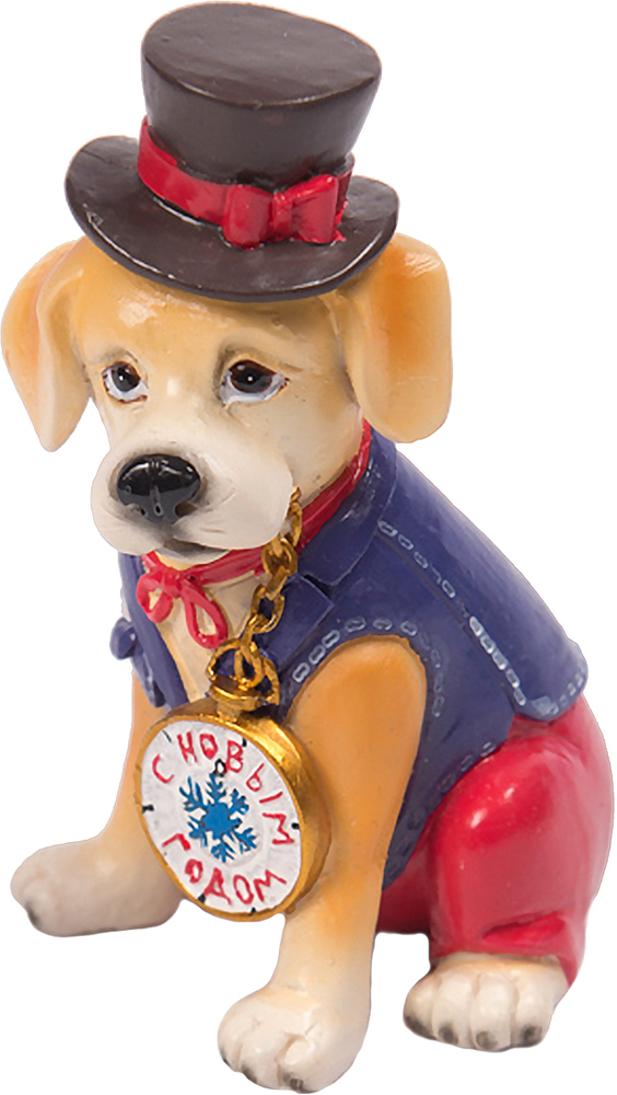 Фигурка декоративная Magic Time Собака в цилиндре фигурка декоративная magic time собачка с розовым бантом