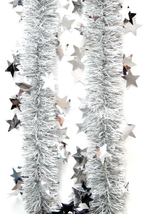 Мишура новогодняя Magic Time, цвет: серебристый, диаметр 6 см, длина 200 см. 7574175741Новогодняя мишура Magic Time, выполненная из ПЭТ (полиэтилентерефталат), поможет вам украсить свой дом к предстоящим праздникам. Новогодняя елка с таким украшением станет еще наряднее.Новогодней мишурой можно украсить все, что угодно - елку, квартиру, дачу, офис - как внутри, так и снаружи. Можно сложить новогодние поздравления, буквы и цифры, мишурой можно украсить и дополнить гирлянды, можно выделить дверные колонны, оплести дверные проемы. Коллекция декоративных украшений из серии Magic Time принесет в ваш дом ни с чем несравнимое ощущение волшебства! Создайте в своем доме атмосферу тепла, веселья и радости, украшая его всей семьей.