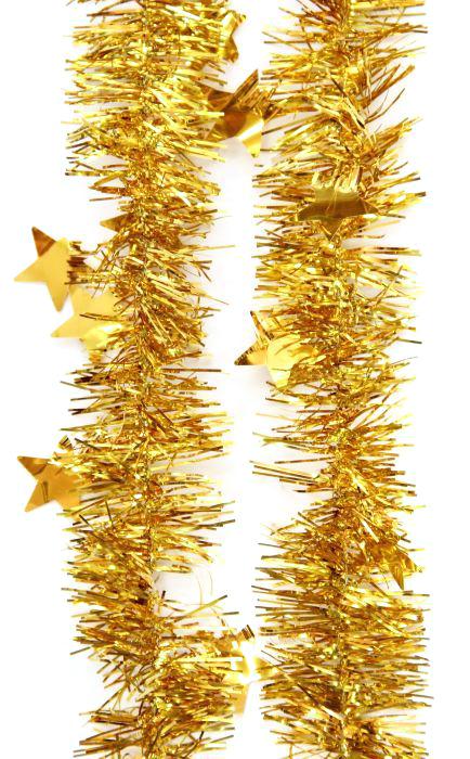 Мишура новогодняя Magic Time, цвет: золотистый, диаметр 6 см, длина 200 см. 7576375763Новогодняя мишура Magic Time, выполненная из ПЭТ (полиэтилентерефталат), поможет вам украсить свой дом к предстоящим праздникам. Новогодняя елка с таким украшением станет еще наряднее.Новогодней мишурой можно украсить все, что угодно - елку, квартиру, дачу, офис - как внутри, так и снаружи. Можно сложить новогодние поздравления, буквы и цифры, мишурой можно украсить и дополнить гирлянды, можно выделить дверные колонны, оплести дверные проемы. Коллекция декоративных украшений из серии Magic Time принесет в ваш дом ни с чем несравнимое ощущение волшебства! Создайте в своем доме атмосферу тепла, веселья и радости, украшая его всей семьей.