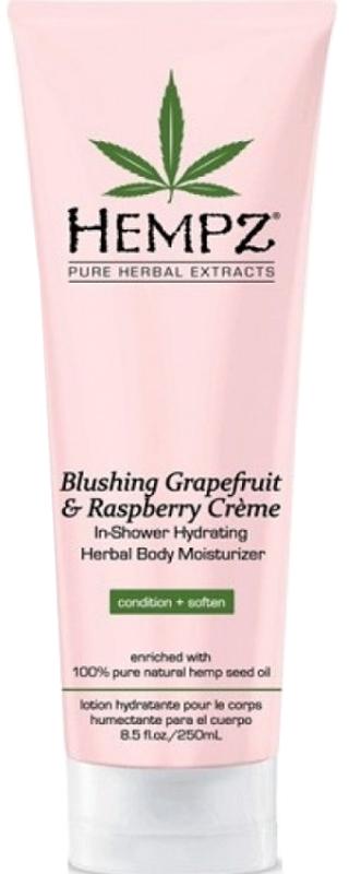 Hempz Blushing Grapefruit and Raspberry Creme In Shower Кондиционер для душа гейпфрут и Малина, 250 мл110-2262-03Увлажняющий кондиционер для душа на основе масла семян конопли и растительных экстрактов для ухода за телом. Обеспечивает питание и увлажнение кожи.