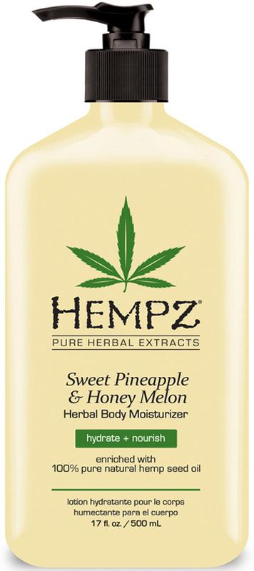 Hempz Sweet Pineapple and Honey Melon Herbal Body Moisturizer Молочко для тела увлажняющее Ананас и Медовая дыня, 500 мл - Косметика по уходу за кожей