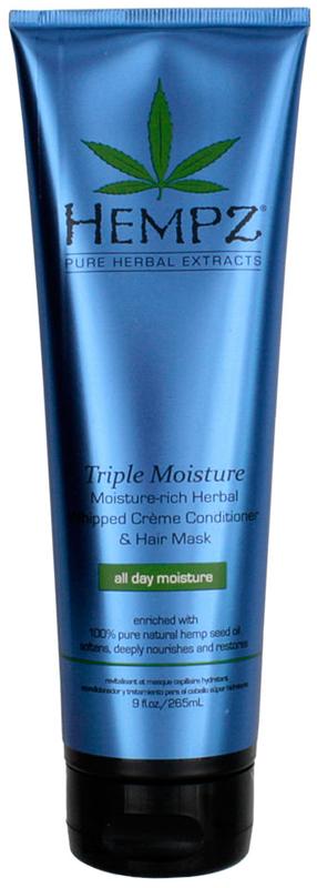Hempz Triple Moisture Replenishing Conditioner Кондиционер тройное увлажнение, 265 мл120-2438-03Кондиционер тройное увлажнение моментально увлажняет поврежденные волосы, длительно поддерживая внутреннюю влагу волос. Обеспечивает питание и защиту, восстанавливает тусклые, безжизненные волосы. Он защищает яркость цвета и обеспечивает глубокое кондиционирование свойства для всех типов волос. Обладает легким ароматом персика и грейпфрута. Без парабена и глютена, 100% Vegan.
