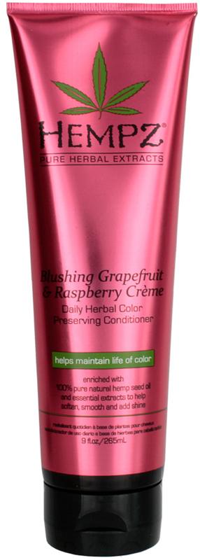 Hempz Blushing Grapefruit&Raspberry Creme Conditioner Кондиционер гейпфрут и Малина для сохранения цвета и блеска окрашенных волос, 265 мл120-2439-03Растительный экстракты и натуральные масла ухаживают за волосами, сохраняя их здоровье и силу. Подходит для частого использования. Продлевает насыщенность цвета окрашенных волос. Придает натуральный блеск.