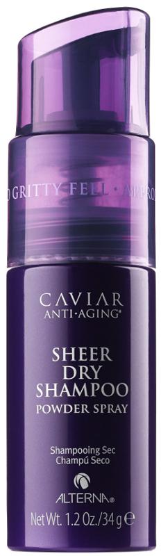Alterna Caviar Anti-aging Sheer Dry Shampoo Сухой шампунь для волос, 34 мл67257.IУникальный сухой шампунь с экстрактом черной икры мгновенно освежает волосы в перерывах между мытьем головы. Сухой шампунь для волос обеспечивает мягкое очищение кожи головы, нейтрализует действие свободных радикалов, абсорбирует продукты выработки сальных и потовых желез. Предотвращает раздражение и дискомфорт кожи головы, сохраняет ощущение свежести, продлевает жизнь укладок. Подходит для всех типов волос, ориентирован на клиентов, которые предпочитают неаэрозольные составы средств с более сухим нанесением и заботятся об экологичности упаковки.Компоненты: Инновационная формула на основе монтмориллонита – слоистой глины, обладающей заживляющим и восстанавливающим действием, не содержит талька.