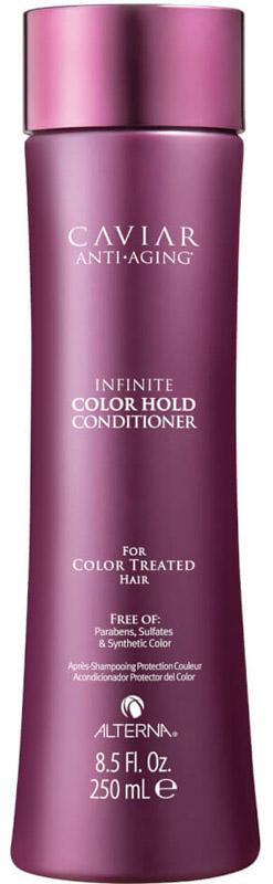 Alterna Caviar Anti-Aging Infinite Color Hold Conditioner Кондиционер для окрашенных волос, 250 мл67266.IРоскошный кондиционер из новой коллекции Infinite Сolor Hold от Alterna гармонично дополняет действие шампуня, защищает волосы, сводит к минимуму потерю яркости и наполняет локоны живительной влагой. Основные преимущества продукта: омолаживает цвет, усиливает блеск, питает волосы. Использование с сывороткой многократно усиливает эффект. Запатентованная формула двойного действия наполняет влагой волосы одновременно нивелируя окислительные повреждения, вызванные окрашиванием волос.Состав: Water, Cetyl Alcohol, Caprylic/Capric Triglyceride, Dimethicone, Behentrimonium Chloride, Stearyl Alcohol, Behentrimonium Methosulfate, Isododecane, Cetrimonium Chloride, Cetearyl Alcohol, Isohexadecane, Rubus Idaeus (Raspberry) Leaf Extract, Alaria Esculenta Extract, Butyrospermum Parkii (Shea) Butter, Linum Usitatissimum (Linseed) Seed Oil, Helianthus Annuus (Sunflower) Seed Extract, Glycerin, Hydrolyzed Vegetable Protein PG-Propyl Silanetriol, Hydrolyzed Rice Protein, Caviar Extract, Jojoba Esters, Phospholipids, Superoxide Dismutase, Saccharomyces/Magnesium Ferment, Saccharomyces/Copper Ferment, Saccharomyces/Silicon Ferment, Saccharomyces/Zinc Ferment, Saccharomyces/Iron Ferment, Silicone Quaternium-16, Quaternium-87, Helianthus Annuus (Sunflower) Seed Oil, Tocopherol, Ascorbic Acid, Polysilicone-15, Tocopheryl Acetate, Undeceth-11, Undeceth-5, Butylene Glycol, Hydroxyethylcellulose, Propanediol, Pentaerythrityl tetra-di-t-butyl Hydroxyhydrocinnamate, Disodium EDTA, Quaternium-95, Citric Acid, Isopropyl Alcohol, Butyloctanol, Iodopropynyl Butylcarbamate, Phenoxyethanol, Benzyl Alcohol, Potassium Sorbate, Sodium Benzoate, Fragrance.