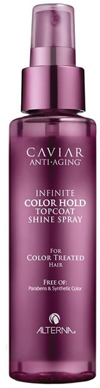 "Alterna Caviar Anti-Aging Infinite Color Hold Topcoat Shine Spray Спрей для придания блеска, 125 мл alterna спрей ""абсолютная термозащита"" caviar anti aging perfect iron spray 122ml"