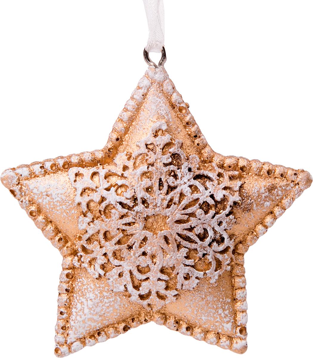 Украшение новогоднее подвесное Magic Time Снежная звездочка76160Новогоднее подвесное украшение Снежная звездочка выполнено из полирезина.