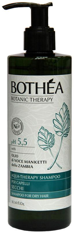 Bothea Aqua-Therapy Shampoo Per Capelli Secchi pH 5.5 Увлажняющий шампунь для сухих волос, 300 млBT00012Шампунь с нежной формулой, которая очищает в соответствии с физиологического уровня рн кожи и волос. Увлажняет волосы сухими и ломкими, придает упругость, оставляя их мягкими и блестящими. С Маслом грецкого Ореха Manketti богатые Омега-6, способствует обновлению клеток и придает волосам правильное увлажнение.