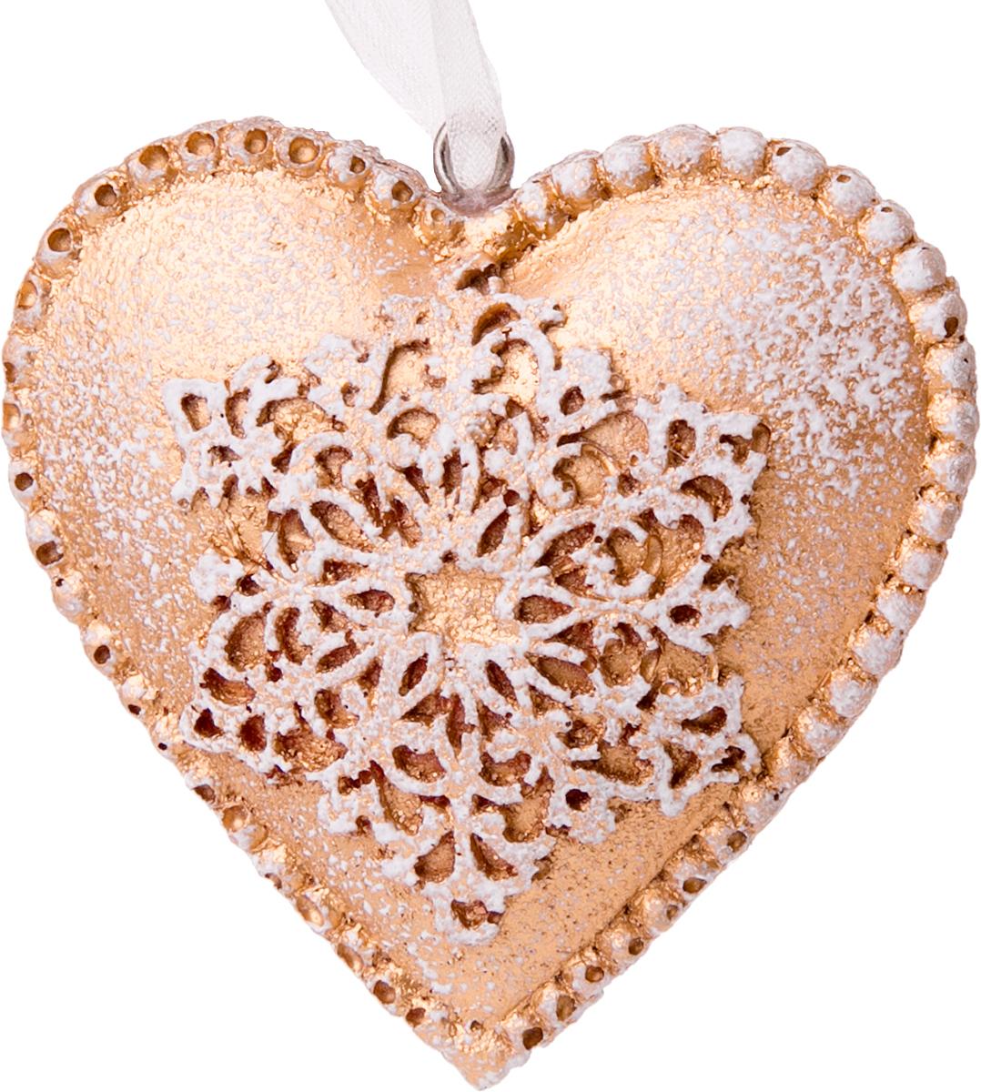 Украшение новогоднее подвесное Magic Time Снежное сердечко76161Новогоднее подвесное украшение Снежное сердечко выполнено из полирезина.