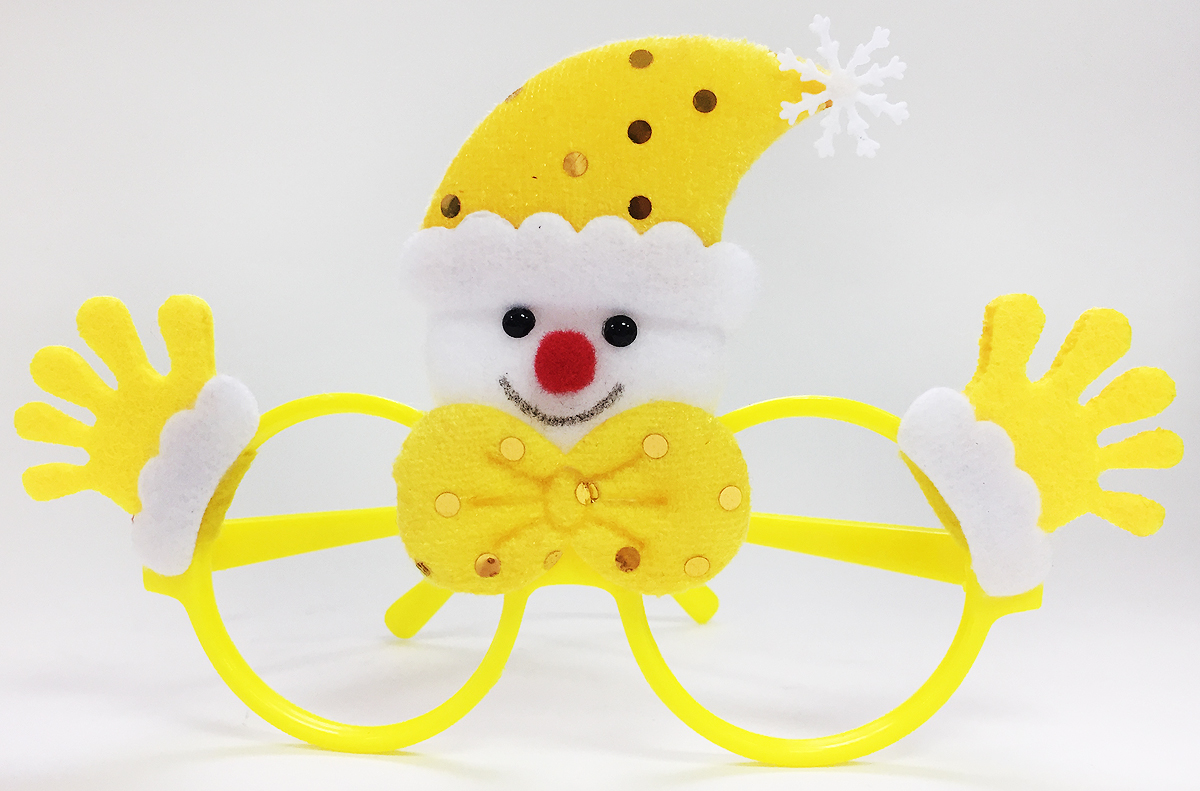 Очки новогодние Magic Time Снеговик, цвет: желтый76196Новогодние очки Снеговик, выполненные из полипропилена, с декором из нетканого материала (полиэстер).Размер: 20 x 16 см.
