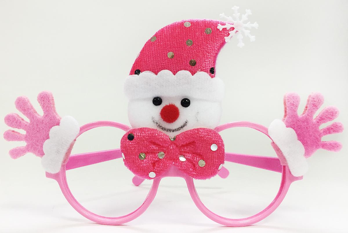 Очки новогодние Magic Time Снеговик, цвет: розовый2393759Новогодние очки Снеговик, выполненные из полипропилена, с декором из нетканого материала (полиэстер).Размер: 20 x 16 см.