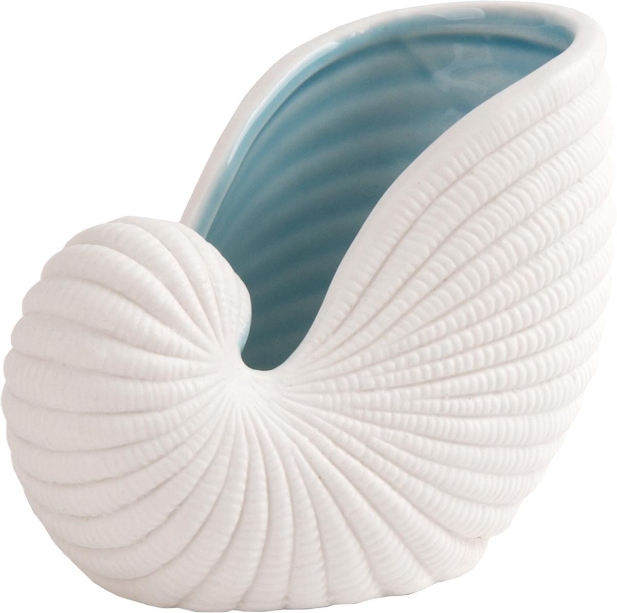 Тарелка декоративная Magic Home, цвет: белый, голубой, 10,7 х 6,8 х 8,5 см76608Декоративная тарелочка из фарфора от Magic Home - это это прекрасный вариант подарка для ваших друзей и близких. Оригинальная и стильная тарелочка станет отличным дополнением в интерьере любой комнаты и будет удачно смотреться и радовать глаз.
