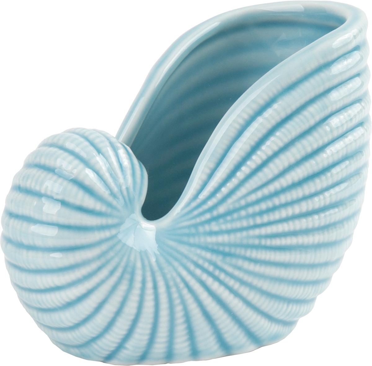 Тарелка декоративная Magic Home, цвет: голубой, 10,7 х 6,8 х 8,5 см76609Декоративная тарелочка из фарфора от Magic Home - это это прекрасный вариант подарка для ваших друзей и близких. Оригинальная и стильная тарелочка станет отличным дополнением в интерьере любой комнаты и будет удачно смотреться и радовать глаз.