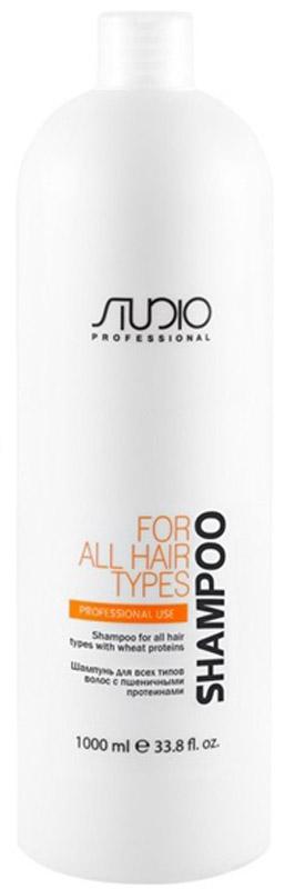 Kapous Professional Шампунь для всех типов волос с пшеничными протеинами, 1000 мл краска для волос kapous professional hyaluronic acid hair color серебро