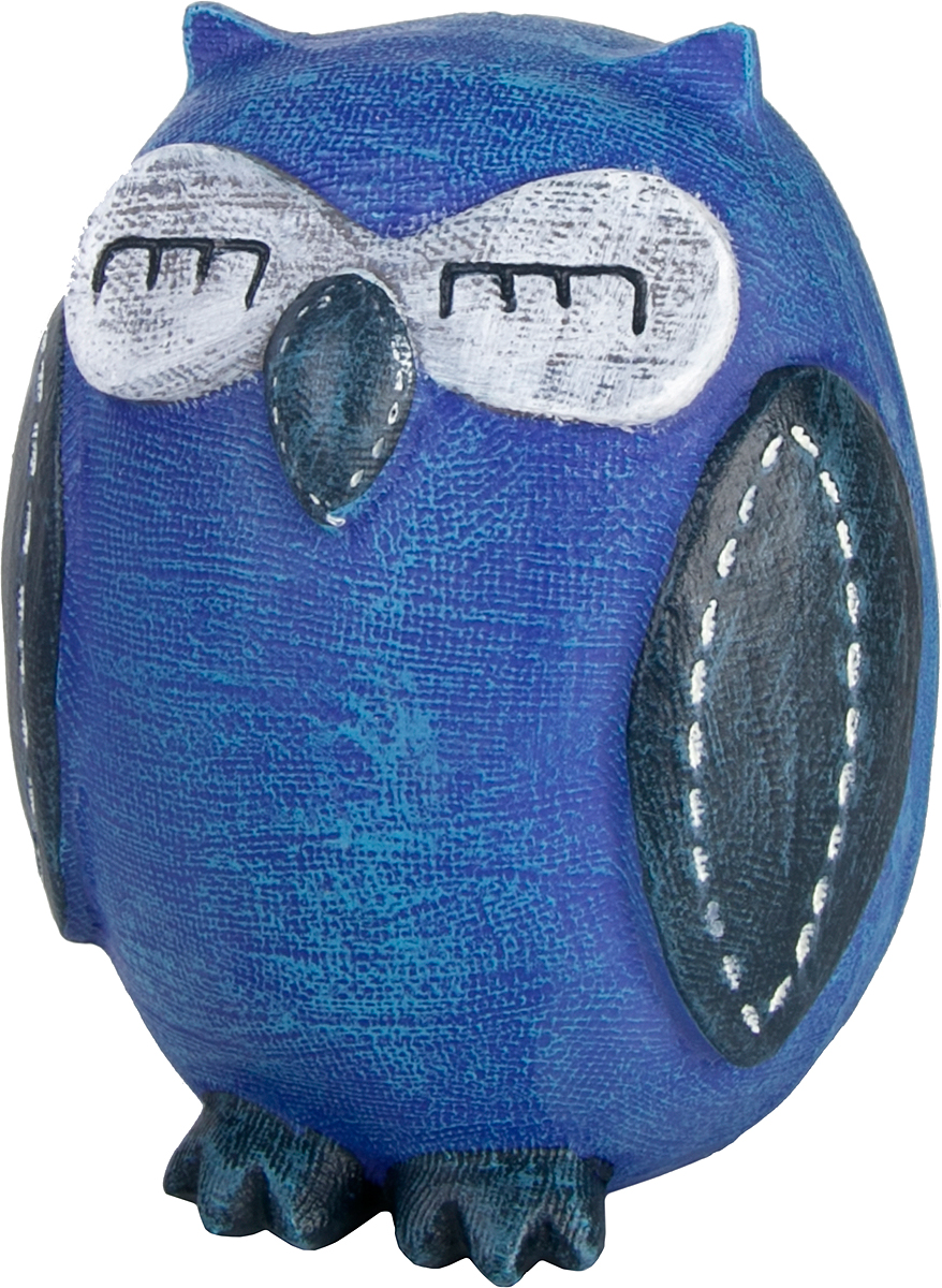 Копилка декоративная Magic Home Совушка, цвет: синий, белый, 10,5 х 9 х 12 см76655Копилка декоративная Magic Home Совушка, выполненная из полирезины, - это отличный вариант подарка для ваших близких и друзей. Стильная и оригинальная она наполнит процесс накопления денег позитивными моментами. Копилка станет прекрасным дополнением интерьера дома или офиса. Фигурку можно поставить в любом месте, где она будет удачно смотреться и радовать глаз.
