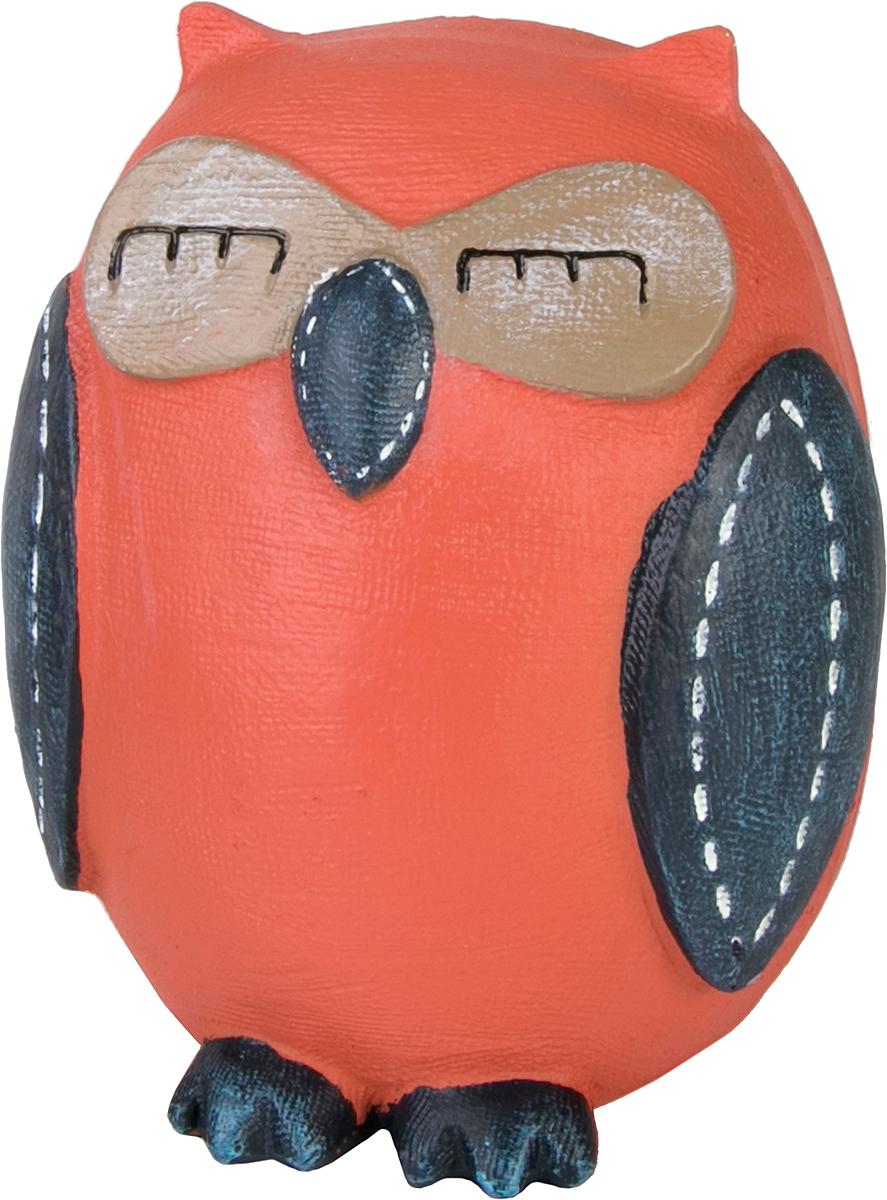 Копилка декоративная Magic Home Совушка, цвет: оранжевый, синий, 10,5 х 9 х 12 см76657Копилка декоративная Magic Home Совушка, выполненная из полирезины, - это отличный вариант подарка для ваших близких и друзей. Стильная и оригинальная она наполнит процесс накопления денег позитивными моментами. Копилка станет прекрасным дополнением интерьера дома или офиса. Фигурку можно поставить в любом месте, где она будет удачно смотреться и радовать глаз.