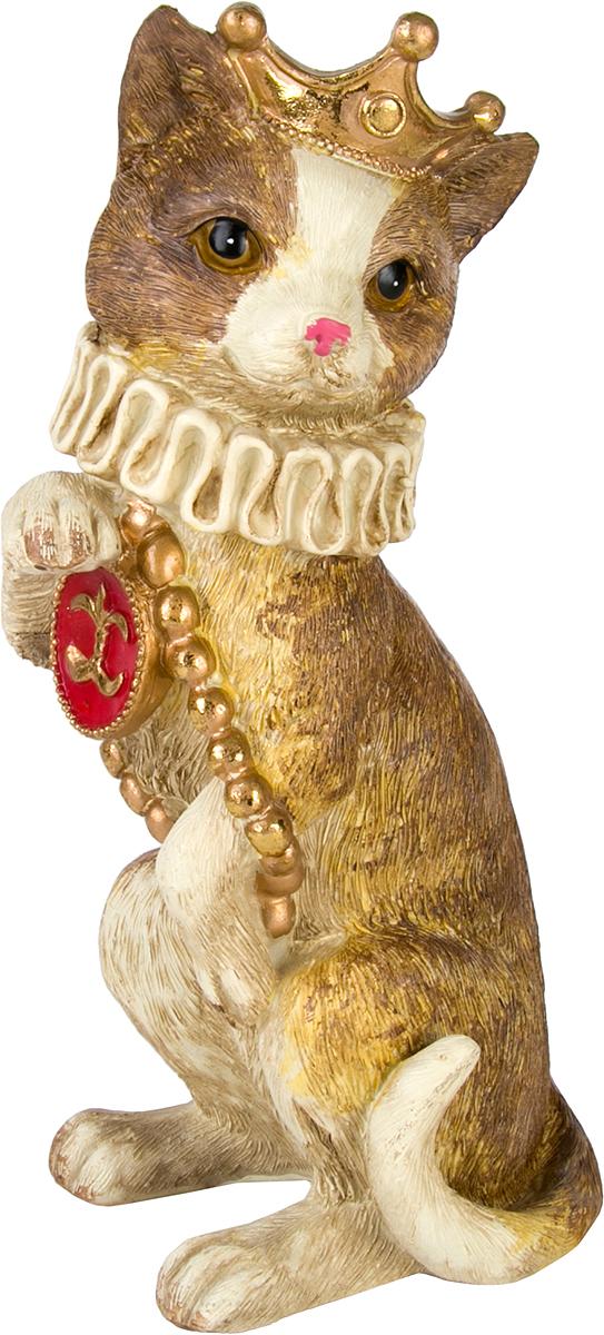 Фигурка декоративная Magic Home Кошка с медальоном, 11,5 х 11 х 20 см76662Фигурка декоративная КОШКА С ПОДНОСОМ от Magic Home - это прекрасноеное украшение интерьера, выполненное из высококачественной полирезины. Это простой и доступный способ сделать неповторимым свой интерьер, как дома, так и в офисе. Сказочный персонаж создает атмосферу волшебства и радости, которая увлечёт за собой детей и взрослых. Изумительная фигурка станет отличным подарком для близких и друзей, вызывая улыбку и поднимая настроение с первого взгляда. В коллекции ЧУДЕСНАЯ СТРАНА представлено несколько обаятельных и задорных героев, которые покоряют своей оригинальностью.