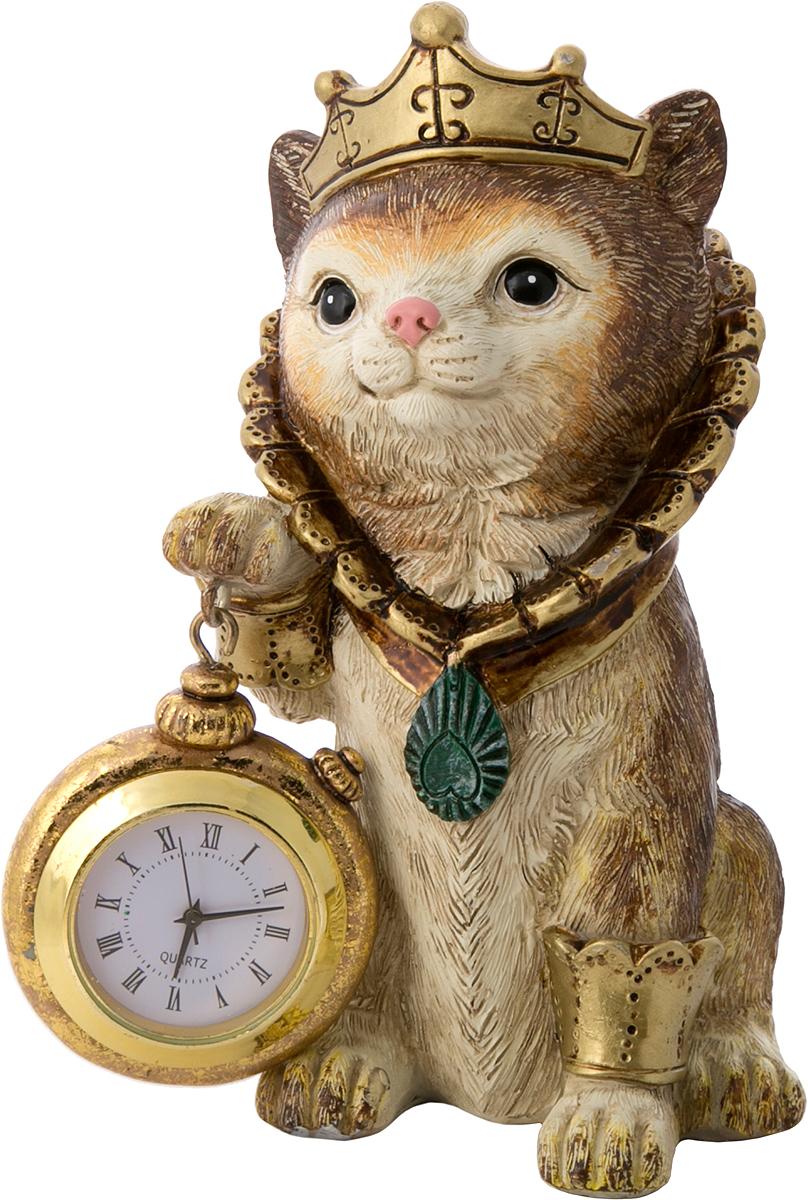 Фигурка декоративная Magic Home Кошка с часами, 9 х 8 х 14,5 см цена