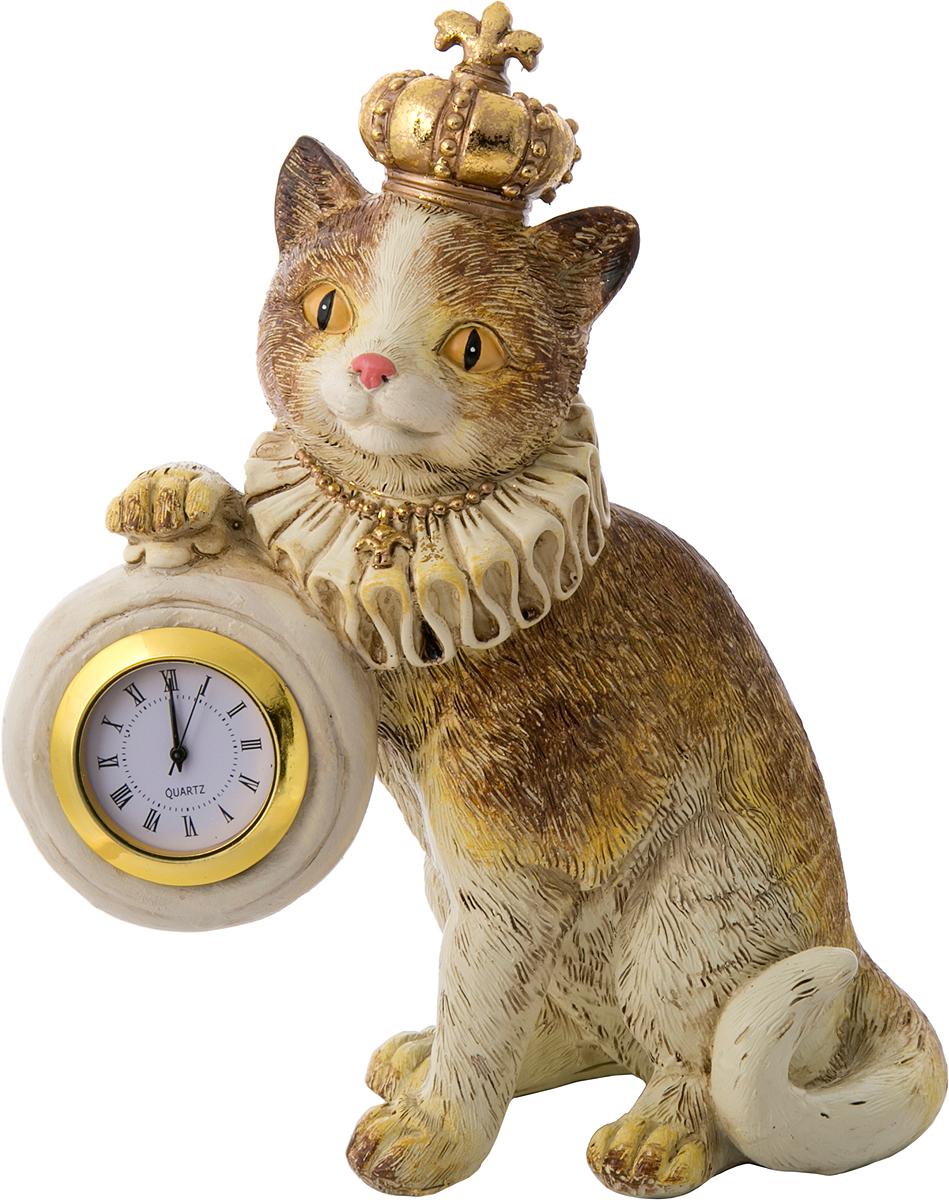 Фигурка декоративная Magic Home Кошка королевская с часами, 15 х 8 х 17,5 см цена
