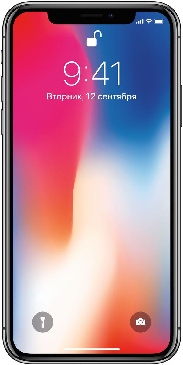 Apple iPhone X 256GB, Space GrayMQAF2RU/AiPhone X воплощает мечту в реальность. Это смартфон будущего.Технологии OLED в дисплее Super Retina HD значительно усовершенствованы. Инженеры Apple привели их в соответствие с высшими стандартами и создали HDR-дисплей с контрастностью 1 000 000:1, высоким разрешением и впечатляющей яркостью, расширенным цветовым охватом и непревзойдённой точностью цветопередачи.Инновационная панель OLED заполняет экран до самых краёв - разработчики смогли добиться этого за счёт ярусного размещения микросхем и нового подхода к расположению контроллера. Пиксели в углах дисплея сглаживаются на уровне субпикселей, поэтому границы не искажаются и выглядят ровными.Дисплей Super Retina HD использует передовую систему управления цветом - она лучше, чем у всех предыдущих iPhone. Поэтому контент в любом цветовом формате (P3, sRGB) автоматически отображается на дисплее iPhone X правильно, и вы видите именно тот цвет, который был задуман режиссёром или дизайнером.Технология True Tone использует шестиканальный датчик внешней освещённости для тонкой настройки баланса белого на экране в соответствии с цветовой температурой освещения. Изображение на дисплее выглядит так, будто напечатано на бумаге, - естественно и комфортно для глаз.Передняя и задняя панели iPhone X полностью выполнены из стекла. Такого прочного стекла ещё не было ни на одном из устройств: его усиливающий слой стал на 50% толще. Цвет наносится на панель в семь слоёв - это позволяет достичь нужной плотности и правильного оттенка, а благодаря отражающему оптическому слою цвет выглядит ещё насыщеннее. Кроме того, олеофобное покрытие позволяет легко избавиться от пятен и отпечатков пальцев.Дизайн iPhone X продуман до мельчайших деталей, чтобы обеспечить устройству защиту от воды, брызг и пыли. Стальная рамка вокруг корпуса iPhone X укрепляет его конструкцию.Теперь ваш пароль - это ваше лицо. Новая технология Face ID позволяет разблокировать телефон, выполнять аутентификацию и оплачивать покупки