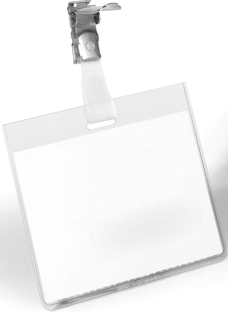 Durable Бейдж горизонтальный с клипом 8003-198003-19Бейдж - неотъемлемый атрибут любого офиса или компании. Он является визитной карточкой сотрудника.Горизонтальный бейдж Durable изготовлен из прочного материала, оснащен прозрачным окошком и вращающимся металлическим клипом. Размер: 6 х 9 см.