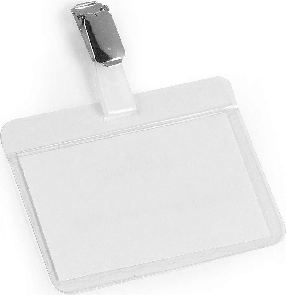 Durable Бейдж горизонтальный с клипом 8102-198102-19Бейдж - неотъемлемый атрибут любого офиса или компании. Он является визитной карточкой сотрудника.Горизонтальный самоламинирующийся бейдж Durable изготовлен из плотного пластика и оснащен металлтческим клипом. Размер: 5,4 х 9 см.