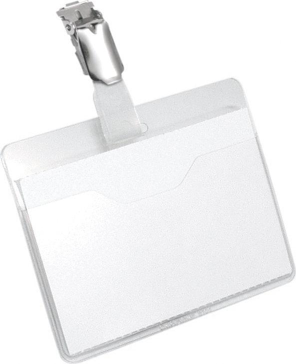 Durable Бейдж горизонтальный с клипом 8106-198106-19Бейдж - неотъемлемый атрибут любого офиса или компании. Он является визитной карточкой сотрудника.Горизонтальный бейдж Durable изготовлен из плотного пластика и оснащен металлическим клипом. Карман для беджа открыт на 1/3 для удобной замены вкладыша без снятия самого клипа. Размер: 6 х 9 см.