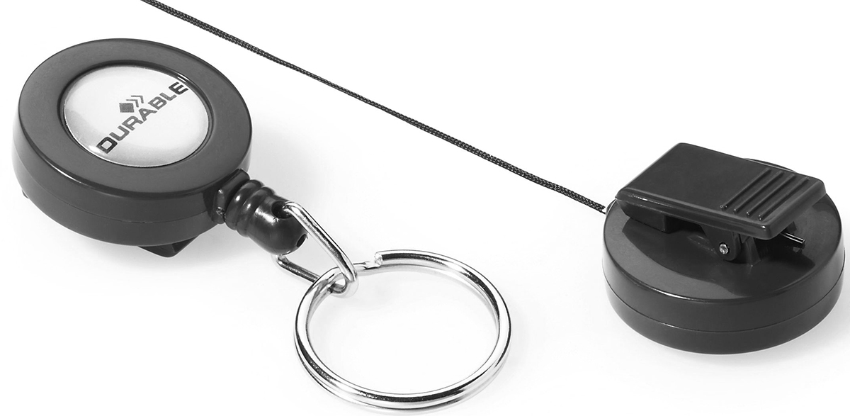 Durable Держатель для бейджей цвет антрацит аксессуар держатель рулетка для бейджей durable 8221 58 dark grey 1шт