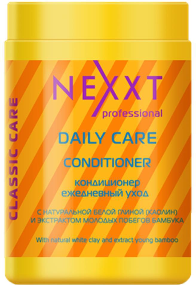 Кондиционер ежедневный уход Nexxt Professional, 1000 млCL211122Средство оптимально подходит для ежедневного ухода за волосами. Благодаря компонентам белой глины, обладают мягким отшелушивающим действием. Очищают волосы у корней, удаляют жирный блеск и препятствуют загрязнению, оказывают тонизирующий эффект на кожу головы, продлевая жизнь фибробластов-клеток, ответственных за выработку коллагена и эластина, тем самым стимулируя регенерацию кожи головы и волосяных фоликул и облегчают расчесывание.
