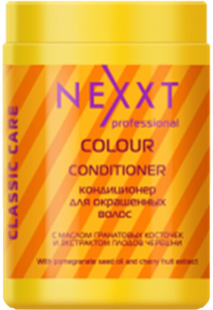 Кондиционер для окрашенных волос Nexxt Professional, 1000 млCL211123С маслом гранатовых косточек и плодов черешни. В средстве используется салонная формула тройной защиты цвета. Олеиновая кислота и витамин Е в составе, являются естественными УФ-фильтрами. Сохраняют цвет за счет усиления клеточного метаболизма. Экстракт плодов черешни препятствует вымыванию цвета, подпитывая жизненную силу окрашенных волос.