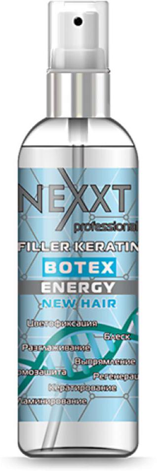 Филлер Кератин-Ботекс Nexxt Professional, 100 млCL211141Кератирование, регенерация, выпрямление, разглаживание, ламинирование, термозащита, блеск, цветофиксация. Филлер-флюид представляет собой витаминно-аминокислотный коктейль, основным компонентом которого является специальный гидролизованный кератин: KeratinPro. Он глубоко проникает внутрь каждого локона, насыщая его необходимыми веществами и улучшая внешний вид. Регенерирующее средство для волос на основе кератина раскрывает чешуйки и проникает внутрь, заполняя поврежденныйе участки, восстанавливая волосы изнутри.