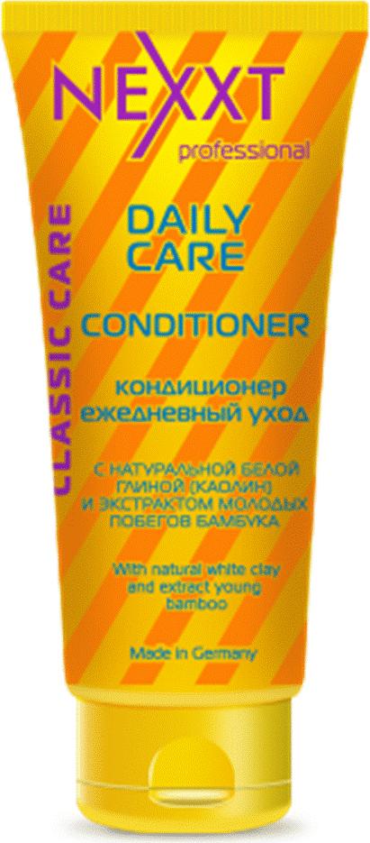 Кондиционер ежедневный уход Nexxt Professional, 200 млCL211401Средство оптимально подходит для ежедневного ухода за волосами. Благодаря компонентам белой глины, обладают мягким отшелушивающим действием. Очищают волосы у корней, удаляют жирный блеск и препятствуют загрязнению, оказывают тонизирующий эффект на кожу головы, продлевая жизнь фибробластов-клеток, ответственных за выработку коллагена и эластина, тем самым стимулируя регенерацию кожи головы и волосяных фоликул и облегчают расчесывание.