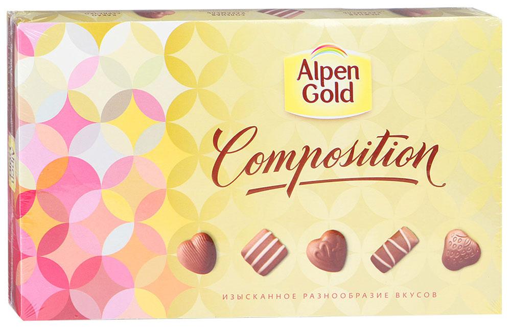Alpen Gold Composition набор конфет пять вкусов, 78 г7622210733740Шоколад Альпен Гольд американской компании Крафт Фудс появился на российском рынке в 1994 году и сразу же обрел наибольшую популярность среди потребителей, которую не теряет и по сей день. Продукция торговой марки также представлена в Украине, Белоруссии и Польше.В переводе шоколад называется Альпийское золото. При этом торговая марка никак не относится к Альпам: все производство расположено в странах Восточной Европы.Любовь покупателей шоколад Alpen Gold завоевал хорошим соотношением цены и качества, а также большим разнообразием вкусов. Уважаемые клиенты! Обращаем ваше внимание, что полный перечень состава продукта представлен на дополнительном изображении.
