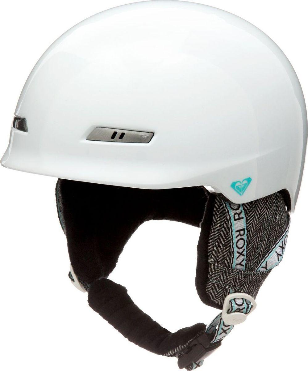 Шлем женский Roxy, зимний, цвет: белый. ERJTL03019-WBB0. Размер SERJTL03019-WBB0Сноубордический шлем имеет сверхлегкую конструкцию из двойного микрошелла сверхлегкой литой конструкции. Безопасность обеспечивает ударопоглощающий пенный полимер EPS. Шлем дополнен пассивной вентиляцией спереди и сзади. Подкладка изготовлена из сетки и флисовой шерпы. Имеются мягкие термоформованные съемные накладки на уши, система регулировки размера и шейный гейтер. Стреп на подбородок выполнен из мягкой шерпы и оснащен застежкой системы Fidlock.