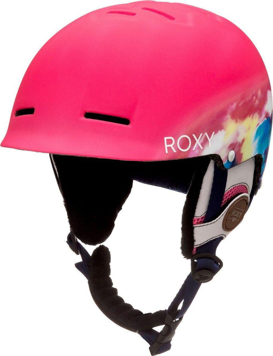 Шлем женский Roxy, зимний, цвет: розовый. ERJTL03020-NKN6. Размер 56ERJTL03020-NKN6Сноубордический шлем имеет сверхлегкую конструкцию из двойного микрошелла сверхлегкой литой конструкции. Безопасность обеспечивает ударопоглощающий пенный полимер EPS. Шлем дополнен пассивной вентиляцией спереди и сзади. Подкладка изготовлена из сетки и флиса. Имеются мягкие термоформованные съемные накладки на уши. Стреп на подбородок выполнен из мягкой шерпы.