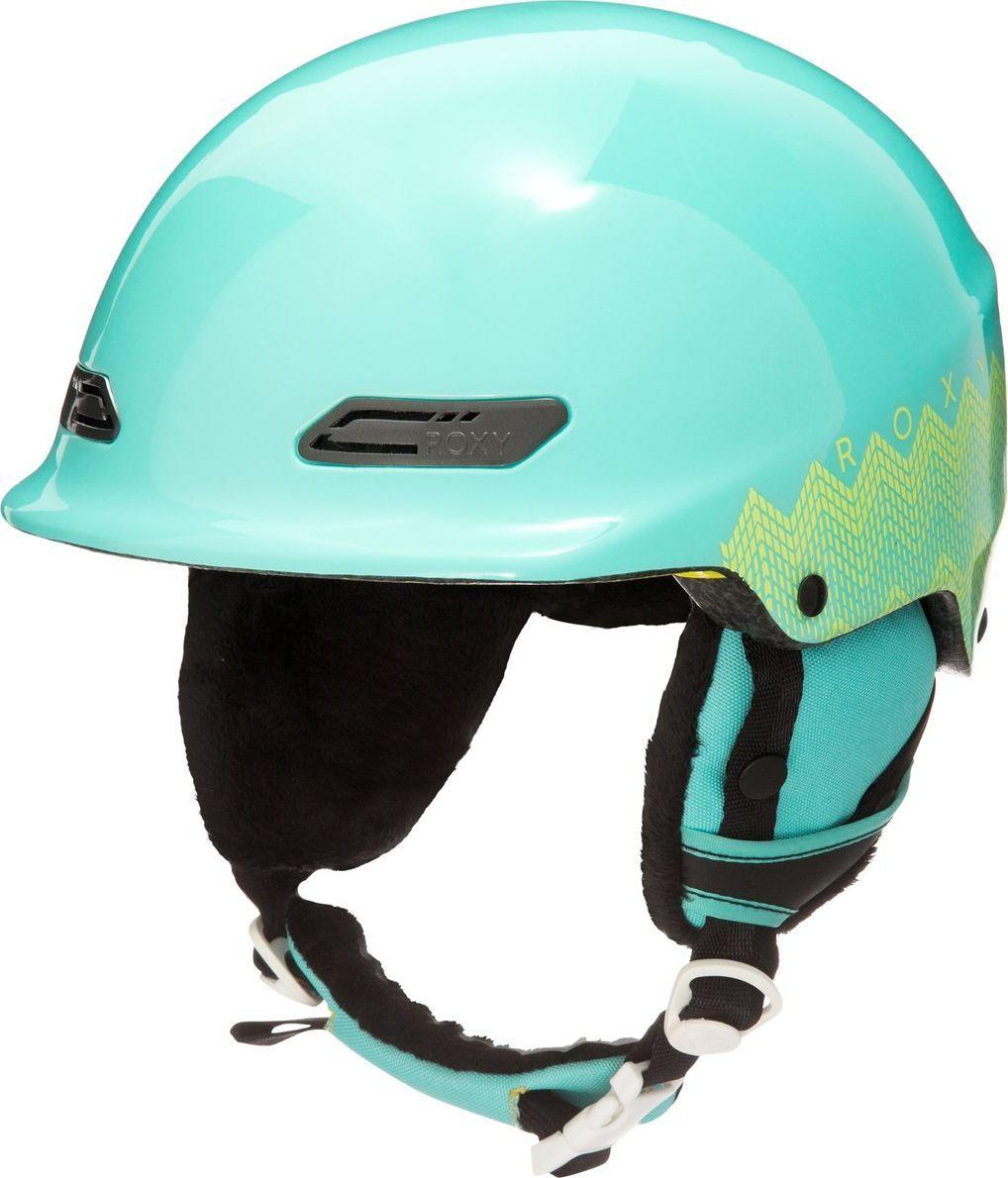 Шлем зимний женский Roxy  ERJTL03018-BFK0 , цвет: бирюзовый. Размер 54 - Горные лыжи