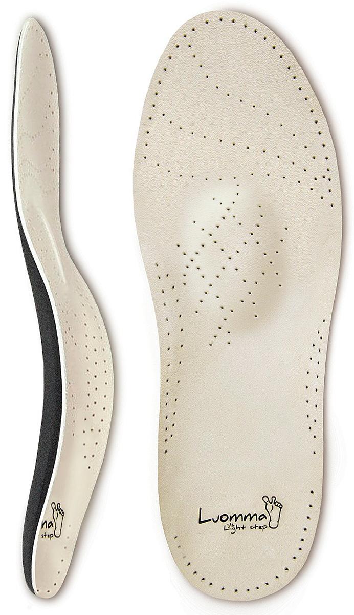 Luomma Стельки ортопедические каркасные при комбинированном плоскостопии (натуральная кожа) Lum203 Markus . Размер 42Lum203 р42Размеры:35,36,37,38,39,40,41,42,43,44,45,46. Особенности: покрытие - натуральная кожа поддерживают поперечный и продольный своды стопы обеспечивают физиологически правильное положение стопы при ходьбе уменьшают ударную нагрузку на стопы, суставы нижних конечностей и позвоночник создают комфортные условия для стопы для всех типов обуви Показания к применению: продольное и комбинированное нефиксированное плоскостопие 1-2 степени заболевания позвоночника и суставов нижних конечностей варикозная болезнь, боли, отеки ног избыточный вес, беременность снятие ударных нагрузок при ходьбе, беге