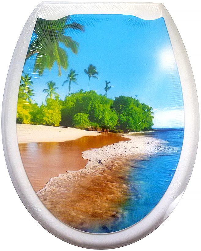 Сидение для унитаза DeLuxe Пляж, 45 х 37 см107Сидение для унитаза DeLuxe изготовлено из полипропилена (пластика). Рисунок на поверхности нанесен с помощью высококачественной пленки, стоек к истиранию, долговечен. Сидение легко мыть.Дизайны фотопринтов повторяют дизайны противоскользящих ковриков. Четыре пластиковые опоры, расстояние между центрами крепежа 150-170 мм. Пластиковый крепеж в комплекте.