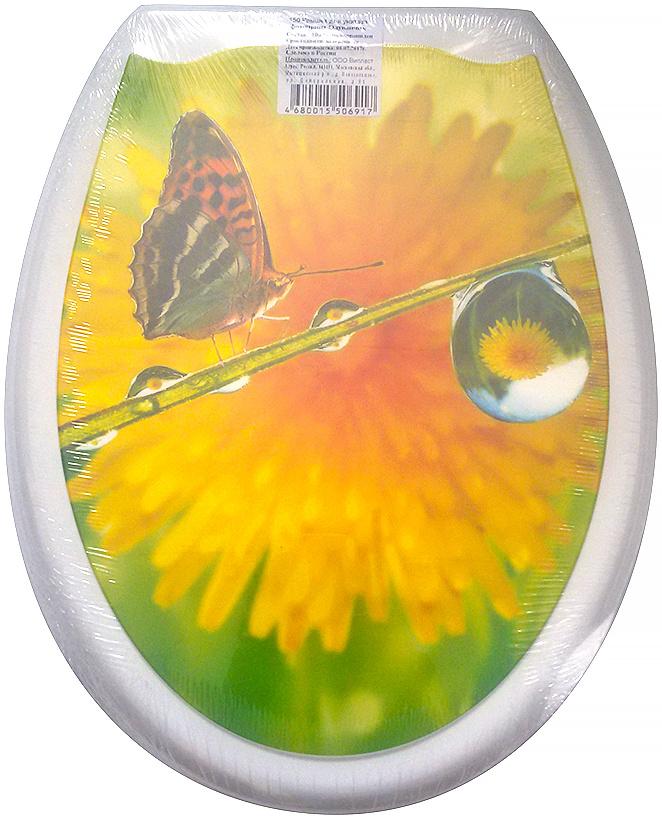 Сидение для унитаза DeLuxe Одуванчик, 45 х 37 см150Сидение для унитаза DeLuxe изготовлено из полипропилена (пластика). Рисунок на поверхности нанесен с помощью высококачественной пленки, стоек к истиранию, долговечен. Сидение легко мыть.Дизайны фотопринтов повторяют дизайны противоскользящих ковриков. Четыре пластиковые опоры, расстояние между центрами крепежа 150-170 мм. Пластиковый крепеж в комплекте.