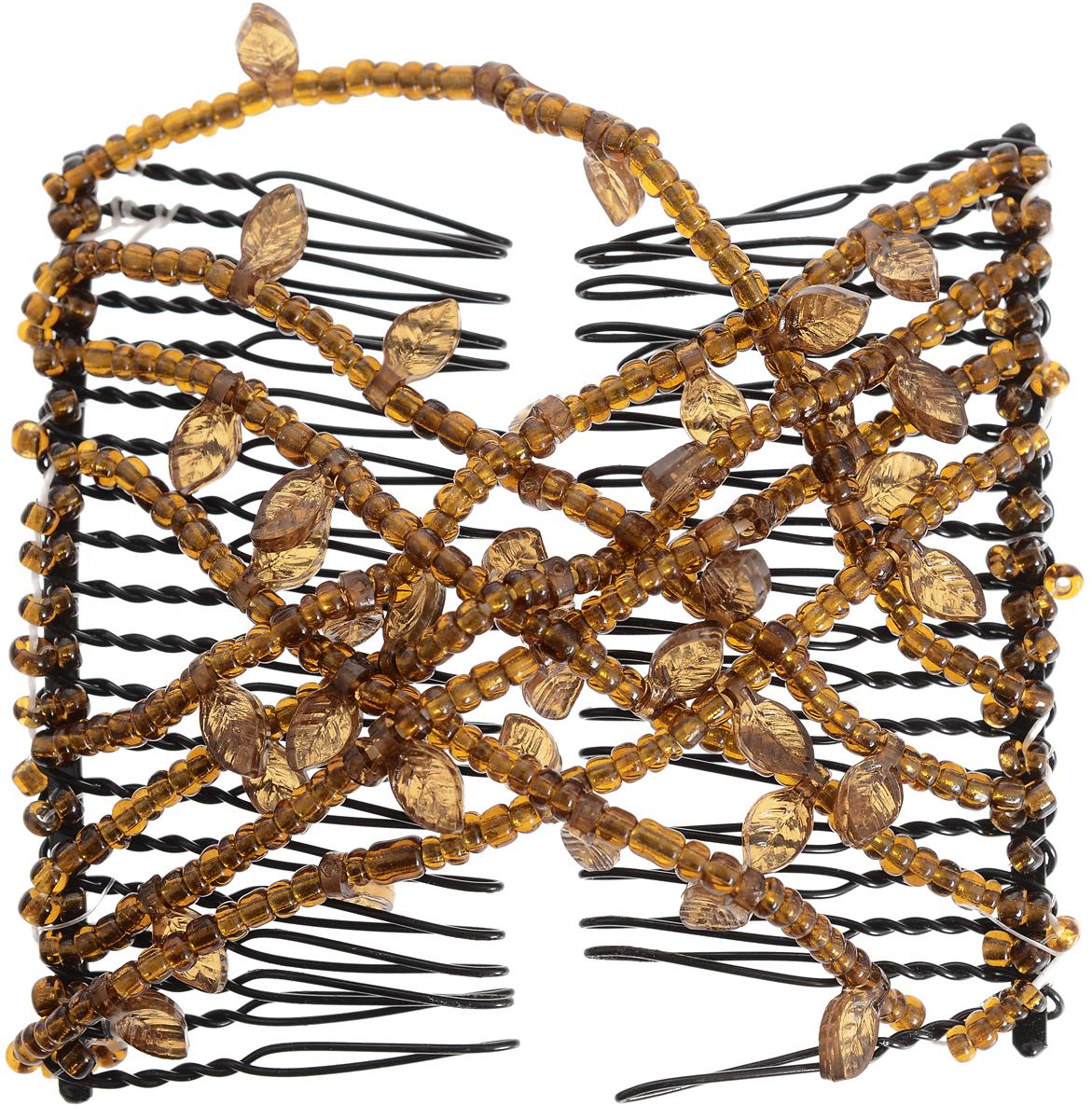 EZ-Combs Заколка Изи-Комбс, одинарная, цвет: коричневый. ЗИО_листок ez combs заколка изи комбс одинарная цвет коричневый зио цветок с серебром