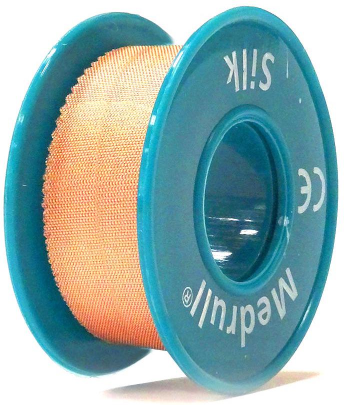 Medrull Лейкопластырь медицинский фиксирующий Silk, рулонный на шелковой основе, 2,5х500 см