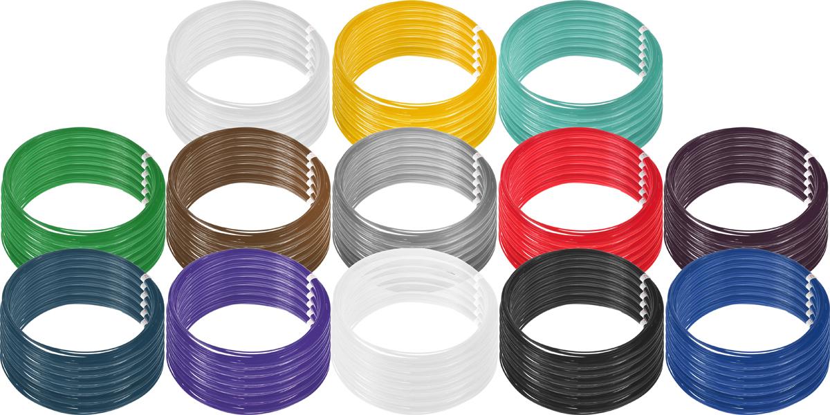 Plastiq пластик PLA 13 цветов по 60 м2990000001825Пластик PLA создается из самых разнообразных продуктов сельского хозяйства - кукурузы, картофеля, сахарной свеклы и т.п. - и считается более экологичным, чем ABS, в основе которого лежит нефть. Изначально он применялся для изготовления продуктовых упаковок и легко утилизируется в промышленных компостных установках. При плавлении не выделяет едких запахов.