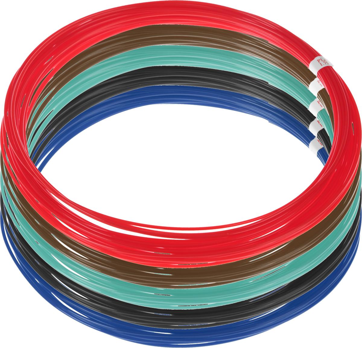 Dewang пластик PLA 5 цветов по 10 м2990000001498Пластик PLA создается из самых разнообразных продуктов сельского хозяйства - кукурузы, картофеля, сахарной свеклы и т.п. - и считается более экологичным, чем ABS, в основе которого лежит нефть. Изначально он применялся для изготовления продуктовых упаковок и легко утилизируется в промышленных компостных установках. При плавлении не выделяет едких запахов.