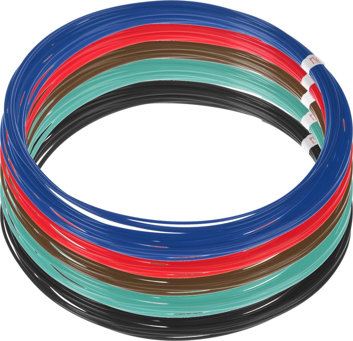 Plastiq пластик PLA 5 цветов по 10 м2990000001887Пластик PLA создается из самых разнообразных продуктов сельского хозяйства - кукурузы, картофеля, сахарной свеклы и т.п. - и считается более экологичным, чем ABS, в основе которого лежит нефть. Изначально он применялся для изготовления продуктовых упаковок и легко утилизируется в промышленных компостных установках. При плавлении не выделяет едких запахов.