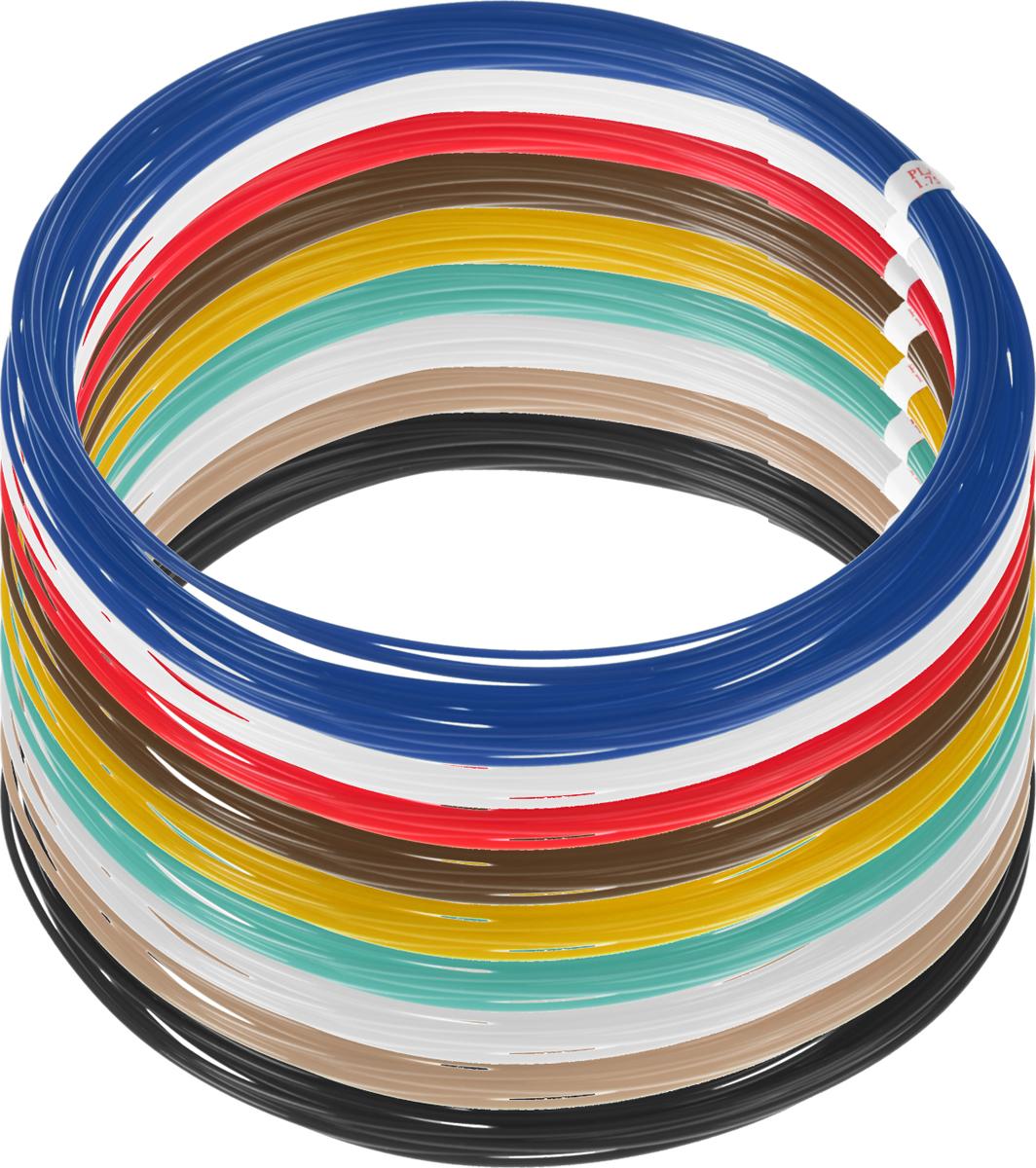 Plastiq пластик PLA 9 цветов по 10 м2990000001894Пластик PLA создается из самых разнообразных продуктов сельского хозяйства - кукурузы, картофеля, сахарной свеклы и т.п. - и считается более экологичным, чем ABS, в основе которого лежит нефть. Изначально он применялся для изготовления продуктовых упаковок и легко утилизируется в промышленных компостных установках. При плавлении не выделяет едких запахов.