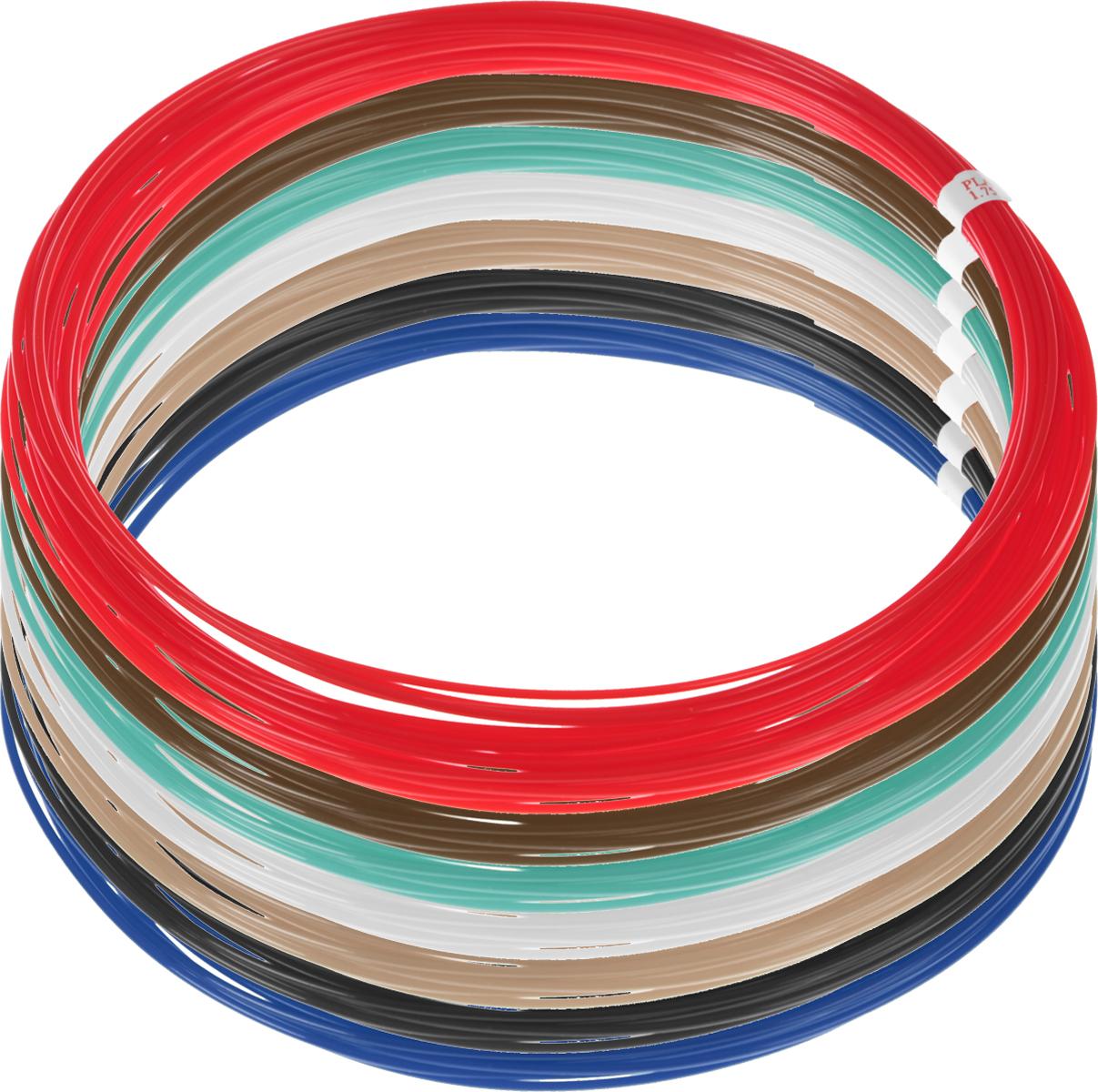 Dewang пластик PLA 7 цветов по 10 м2990000001542Пластик PLA создается из самых разнообразных продуктов сельского хозяйства - кукурузы, картофеля, сахарной свеклы и т.п. - и считается более экологичным, чем ABS, в основе которого лежит нефть. Изначально он применялся для изготовления продуктовых упаковок и легко утилизируется в промышленных компостных установках. При плавлении не выделяет едких запахов. Диаметр пластика - 1,75 мм.