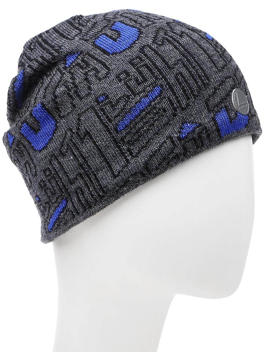 Шапка мужская Luhta, цвет: темно-синий, белый. 838654845LV-390. Размер универсальный шапка женская luhta цвет белый светло розовый 838627679lv 010 размер универсальный
